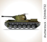 abstract obsolete tank vehicle. ... | Shutterstock .eps vector #524446732