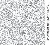 funny seamless pattern with... | Shutterstock .eps vector #524448742