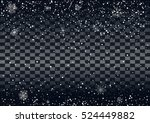 abstract falling snow on a dark ... | Shutterstock .eps vector #524449882