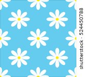 seamless chamomile pattern.... | Shutterstock .eps vector #524450788