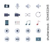control media and music player... | Shutterstock .eps vector #524452345