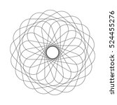 abstract spirograph element.... | Shutterstock .eps vector #524455276