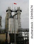 refinery. wind soc blowing. | Shutterstock . vector #52445674