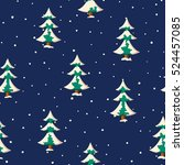 seamless christmas pattern with ... | Shutterstock .eps vector #524457085