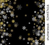 snowfall background with golden ... | Shutterstock .eps vector #524457616