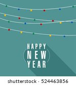 christmas and new year lights... | Shutterstock .eps vector #524463856