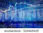 statistic graph stock market... | Shutterstock . vector #524465425