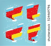 super winter set vector banners.... | Shutterstock .eps vector #524469796