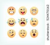set of emoticons  emoji... | Shutterstock .eps vector #524470162