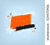 winter sale banner design. sale ... | Shutterstock .eps vector #524470906