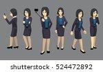manga elegant woman poses... | Shutterstock .eps vector #524472892