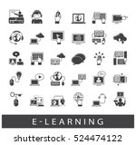 collection of e learning icons. ... | Shutterstock .eps vector #524474122