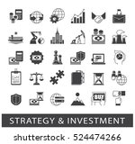 set of premium quality strategy ... | Shutterstock .eps vector #524474266