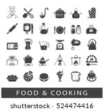 set of premium quality food and ...   Shutterstock .eps vector #524474416