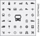 bus transport icon. delivery... | Shutterstock .eps vector #524474662