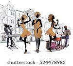 series of the streets with... | Shutterstock .eps vector #524478982