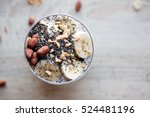banana chia yogurt pudding... | Shutterstock . vector #524481196