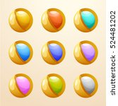 abstract shiny icon set  ... | Shutterstock .eps vector #524481202