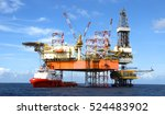 offshore oil rig drilling... | Shutterstock . vector #524483902