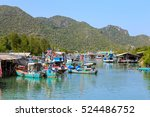 Fisherman Village In Pran Buri...