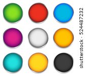 glossy colorful circle  sphere  ... | Shutterstock .eps vector #524487232