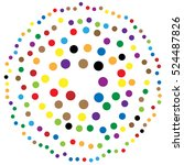 random circles  dots abstract... | Shutterstock .eps vector #524487826