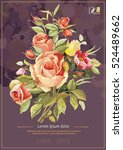 vintage decorative bouquet of... | Shutterstock .eps vector #524489662