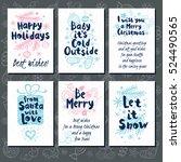merry christmas. happy new in...   Shutterstock .eps vector #524490565
