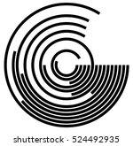 Concentric Circles. Circular...