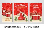 marry christmas and happy new... | Shutterstock .eps vector #524497855