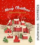 marry christmas and happy new... | Shutterstock .eps vector #524498026