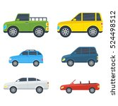 passenger car cartoon models.... | Shutterstock .eps vector #524498512