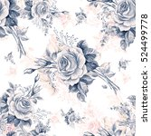 watercolor seamless pattern... | Shutterstock . vector #524499778