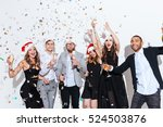 group of happy young people in... | Shutterstock . vector #524503876