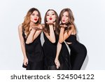 three playful attractive young... | Shutterstock . vector #524504122