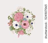 bouquet of flowers. wedding... | Shutterstock .eps vector #524507065