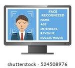 biometric identification.... | Shutterstock .eps vector #524508976