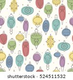 seamless pattern with christmas ... | Shutterstock .eps vector #524511532