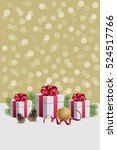 christmas gift boxes with... | Shutterstock .eps vector #524517766