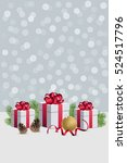 christmas gift boxes with... | Shutterstock .eps vector #524517796