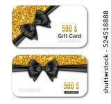 illustration gift card template ... | Shutterstock .eps vector #524518888