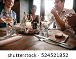 group of friends meeting at... | Shutterstock . vector #524521852