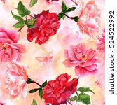 a seamless pattern with... | Shutterstock . vector #524522992