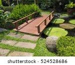 Wooden Bridge In The Tropical...