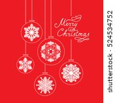 christmas background with... | Shutterstock .eps vector #524534752