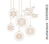 christmas background with... | Shutterstock .eps vector #524534812