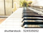 classic vintage old piano... | Shutterstock . vector #524535052