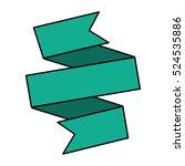 ribbon banner green design icon   Shutterstock .eps vector #524535886