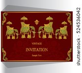 indian wedding invitation ... | Shutterstock .eps vector #524536042