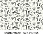 vector seamless pattern with... | Shutterstock .eps vector #524540755